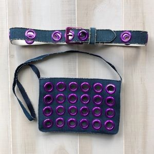 Miss Sixty Matching Belt & Bag Set